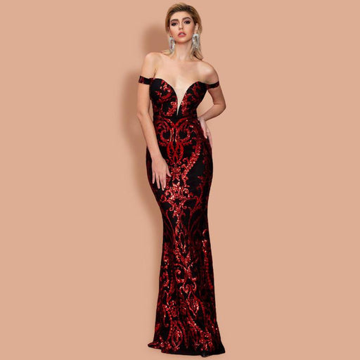 Sexy Corset Dazzling Party Red Dress