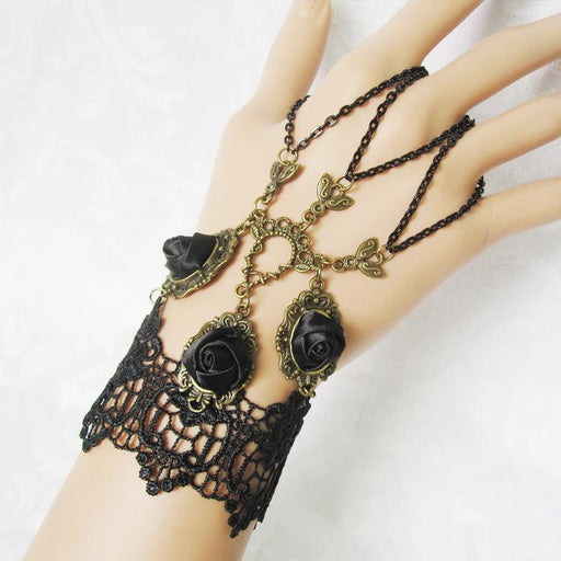 Fairy Sweet Lacy Festive ball accessories black lace female bracelet wristband