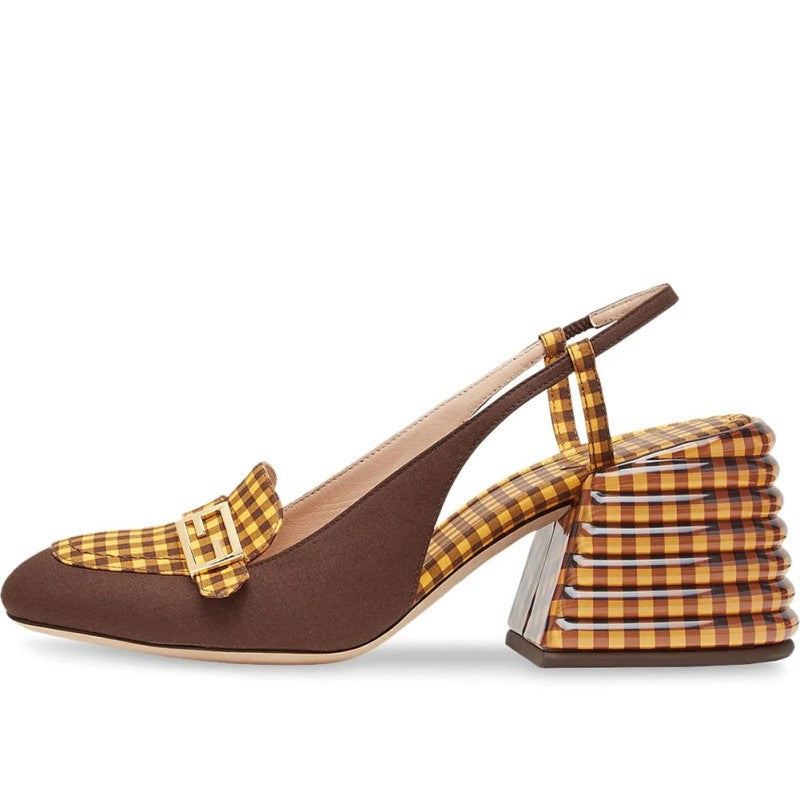 Wedges plaid Pump Sandals