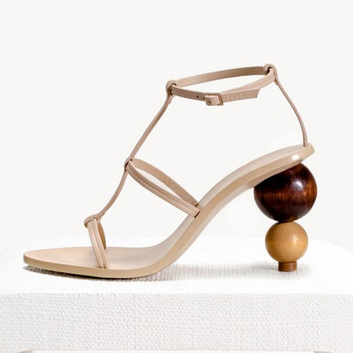 Gourd Open Toe Blue Pump Sandals