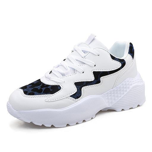 White shoes Leopard Sports running  Increase  Sneakers