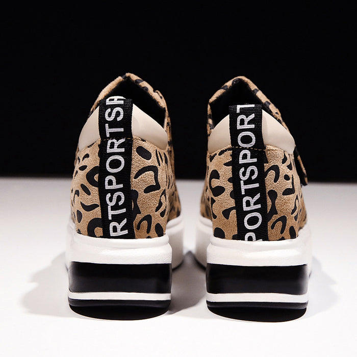 Leopard Internal increase Sneakers
