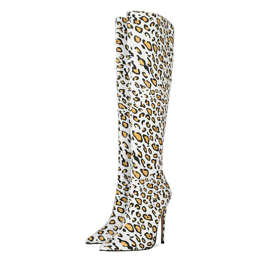 Leopard print Thigh High Boots