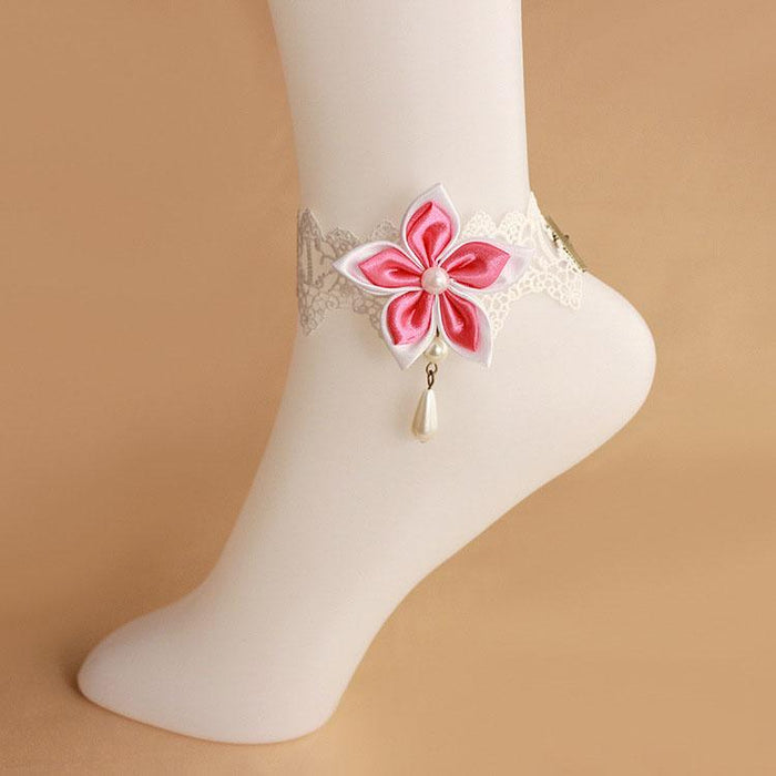 Fairy Sweet Lace Bauhinia Flower Wild Lady Loli Anklet