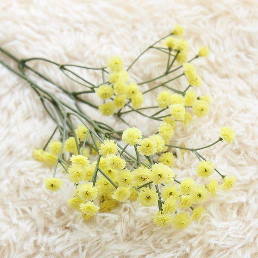 Comfyee Yellow Weddings Bouquets  DIY Realistic Baby's breath Artificial Silk Flower