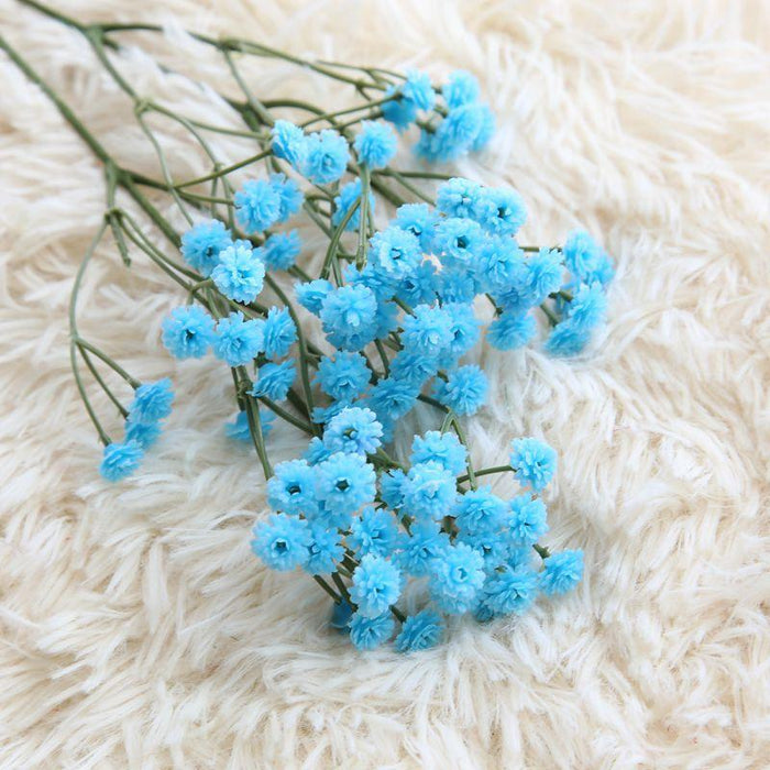 Comfyee Blue Weddings Bouquets  DIY Realistic Baby's breath Artificial Silk Flower