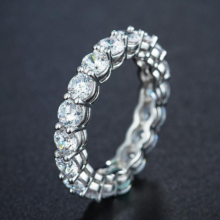 Fashion zircon ring