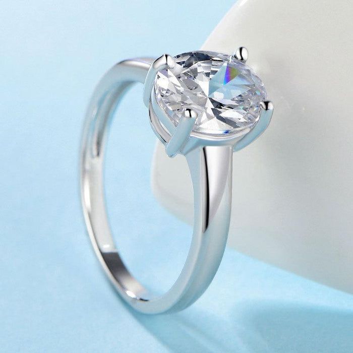 S925 sterling silver female zircon ring