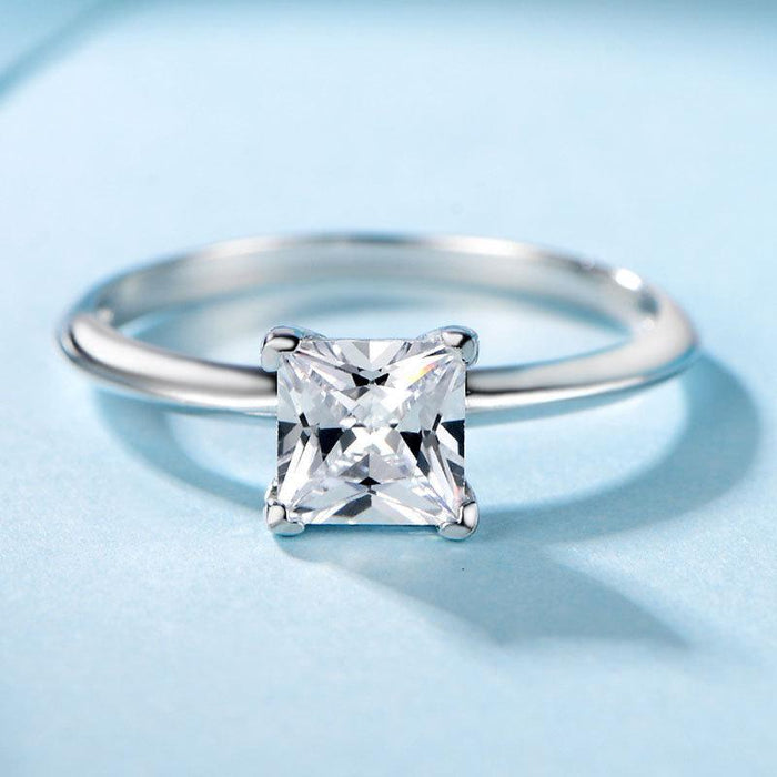 925 sterling silver engagement ring for lady