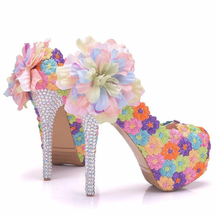 Wedding Heels - Colour Lace  flower