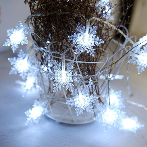 Christmas Outdoor Tree Snowflakes Decoration String LED Lights