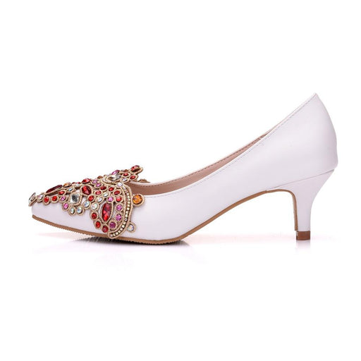 Wedding Heels -Crystal Red