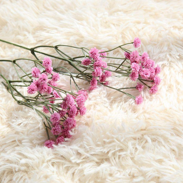 Comfyee Purple Weddings Bouquets DIY Realistic Baby's breath Artificial Silk Flower