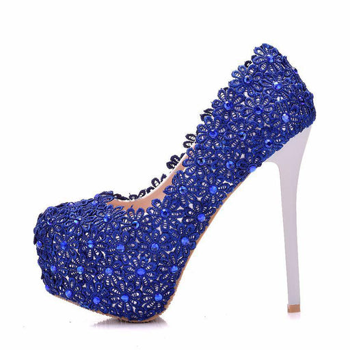 Bridal Heels - Blue Lace