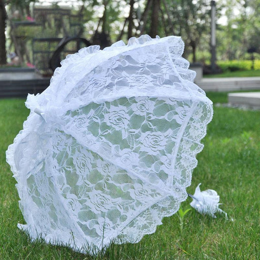 Just married parasol wedding ceremony decoration white photography props beach wedding decoration
