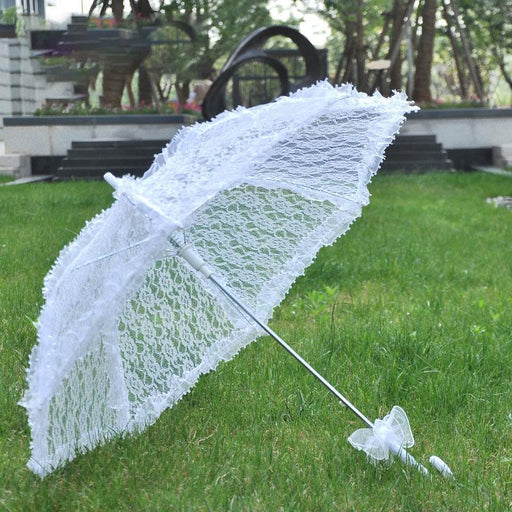Bridal wedding party decoration / table setting / wall decoration / little retro inspired lace embroidered parasol for bride parasol