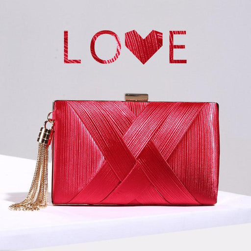 Banquet dinner silk woven clutch bag diagonal bag