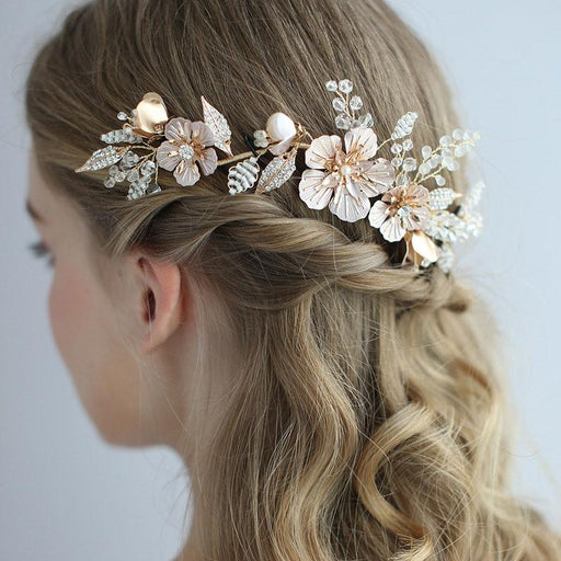 Bridal wedding wreath headdress hairpin, hairpin. Hair comb