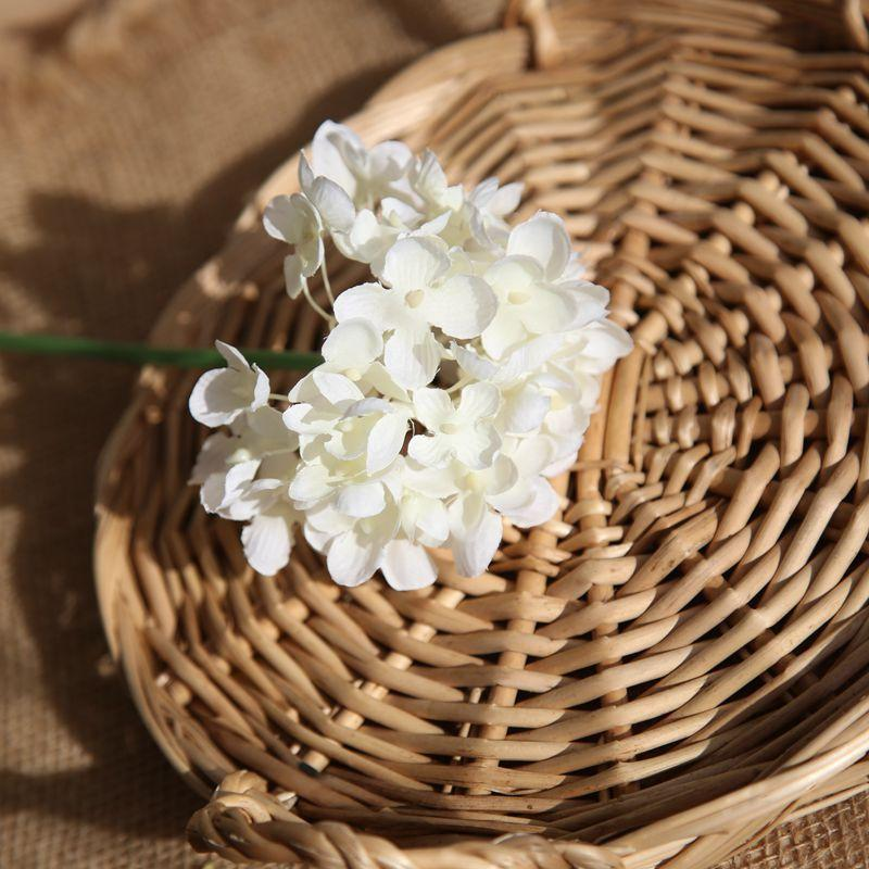 Comfyee White Wedding Bouquets Hydrangea Artificial Flower