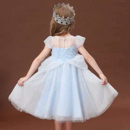 Fancy Lolita Lace Frozen Aisha Aisha Princess Blue Gem Dress