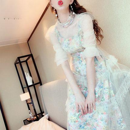 Fairy Sweet Lacy fashion gentle wind floral dress