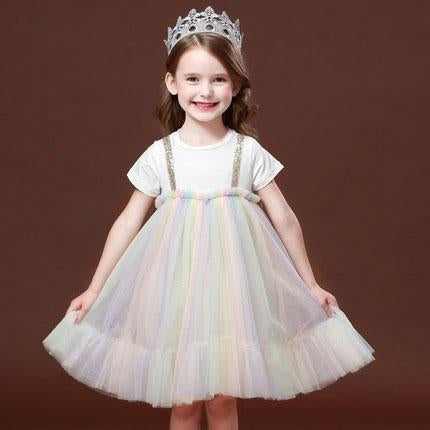 Fairy Pastel Lacy Children's colorful fluffy cake dress skirt