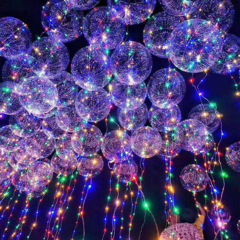 Transparent led luminous ball wave ball party wedding decoration birthday balloon decoration balloon