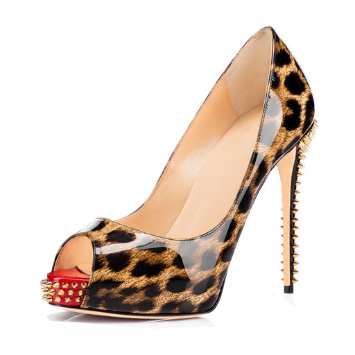 Night Club  Sparkly Studded Leopard print high heels