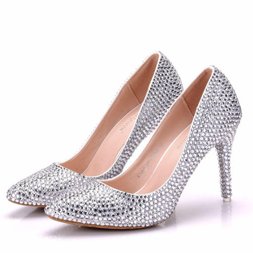 Bridal  Heels -Crystal Beaded Diamond