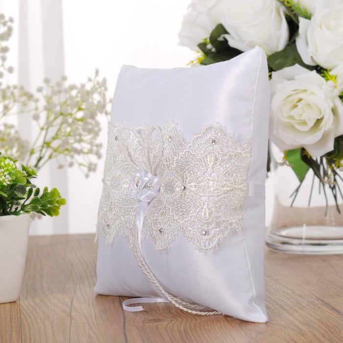 Wedding ring pillow / ring pillow / wedding pillow / wedding ring pillow / ring holder / lace ring pillow / classic wedding ring / wedding ring