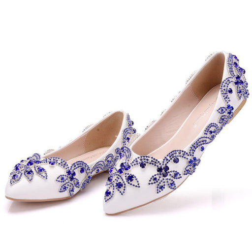 Wedding Flats  -Blue Rhinestone