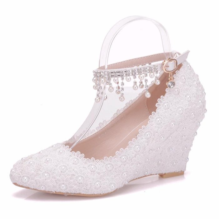 Wedding  Heels - Pearl  Lace