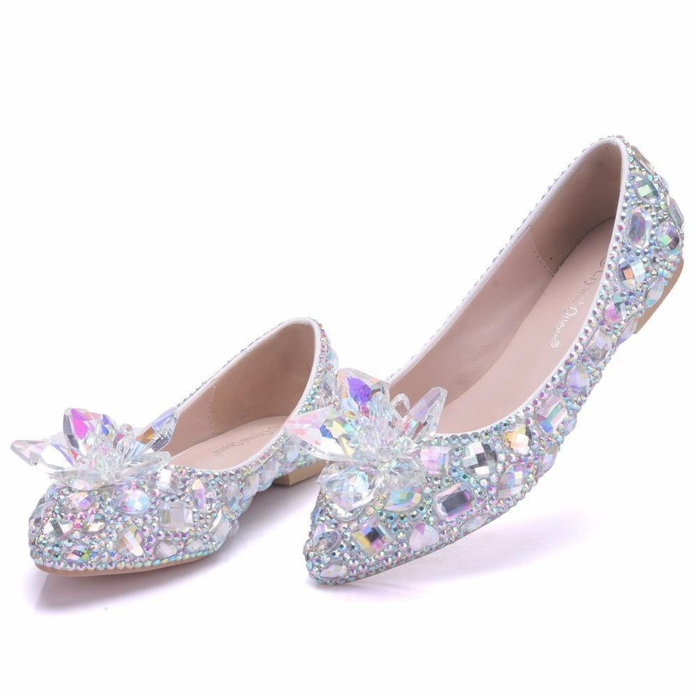 Bridal Flats -Crystal Flower