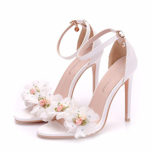 Bridal Sandals - White Flower