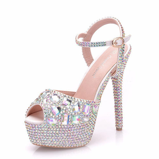 Bridal Sandals -Color diamond Crystal