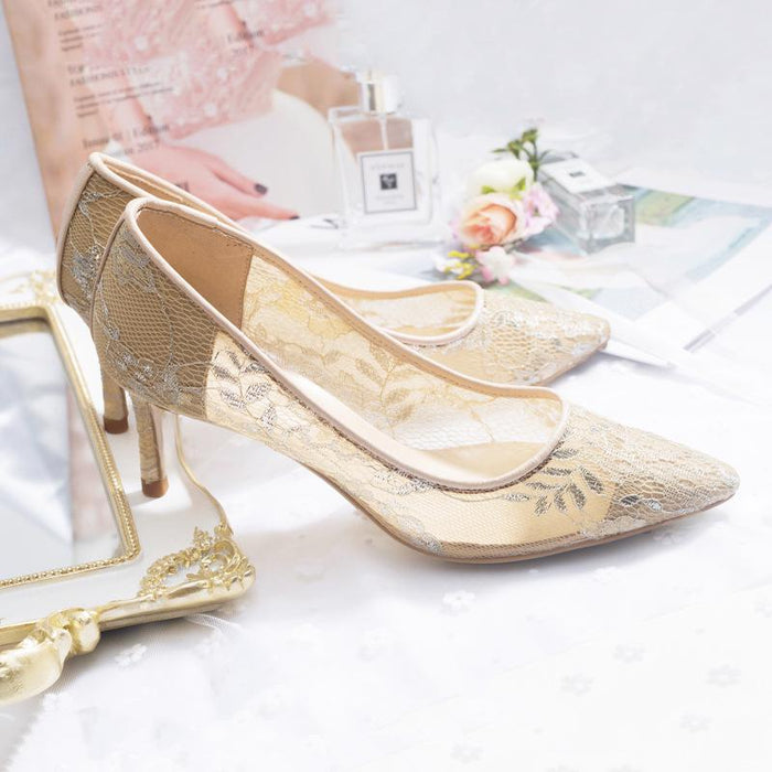 Wedding Heels  -Lace
