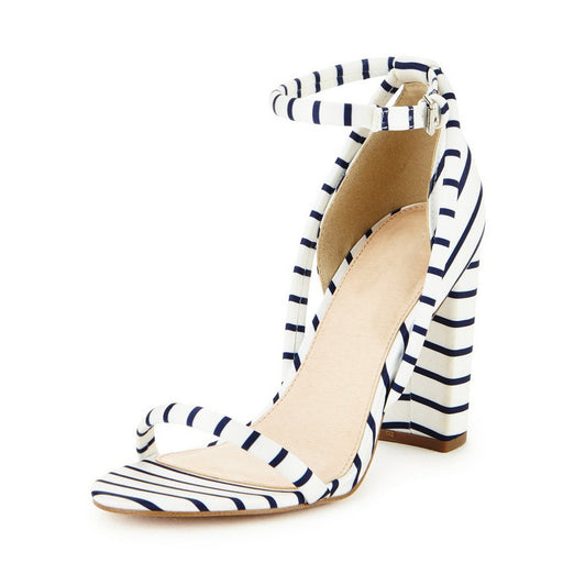 Summer Striped Sexy Party  Pump Sandals