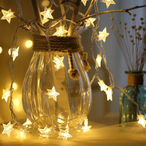 3 meters led star light string five-pointed star starry sky light string wedding party layout lanterns
