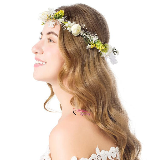 Frosted Flower Crown, Rustic Flower crown. Floral Crown. Bridal Headpiece. Bohemian flower crown, Flower girl headband. Bridal Flower Crown