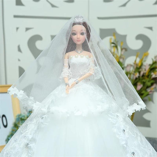 Fany Sweet Lace Children's toy Barbie doll with white pearl bow