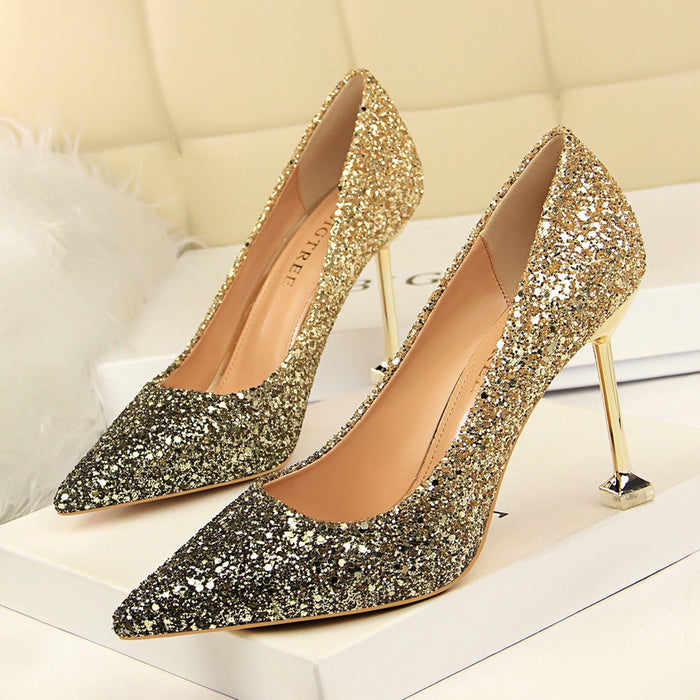 Party sparkling high heels