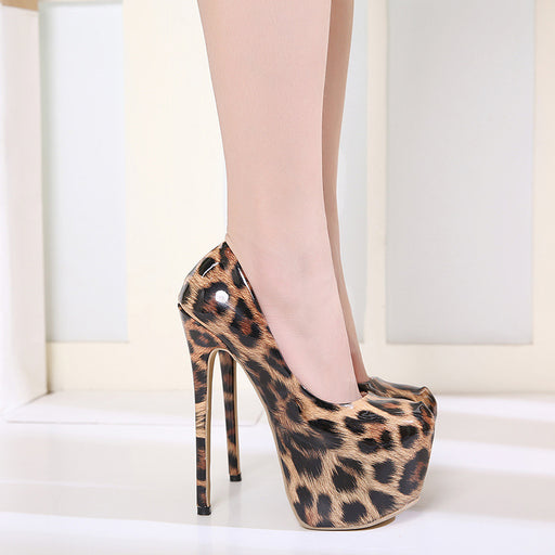 Night Club Sexy Leopard  Platform Heels