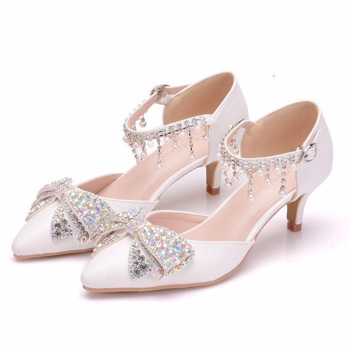 Wedding Heels  -Colour  Rhinestone Butterfly