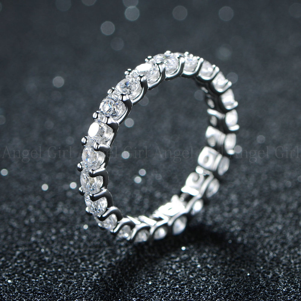 925 silver ring with zircon for lady