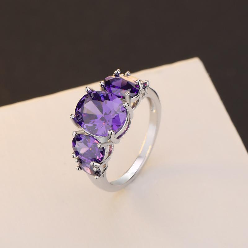 Amethyst women's birthday ring