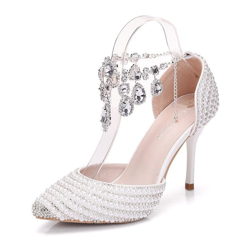 Weddingb Heels   - Rhinestone
