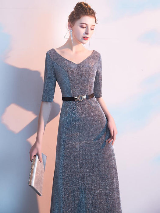 Gray Annual Party Party Dazzling Evening Dress