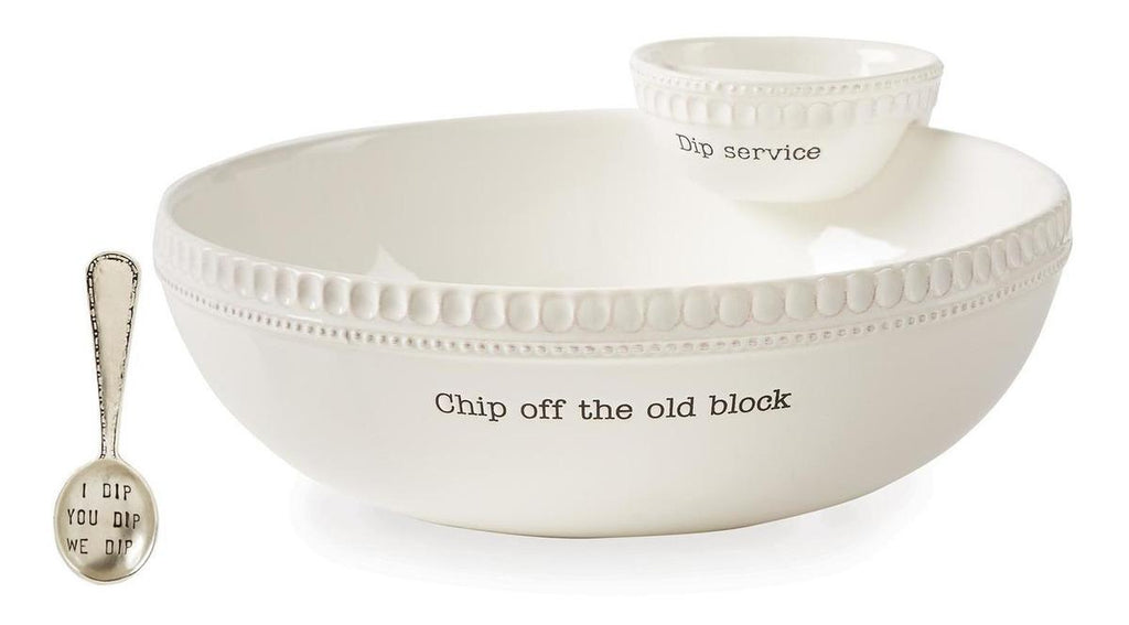 Set Bowl, Bowl Cuchara Mud Pie Chip & Dip Circa