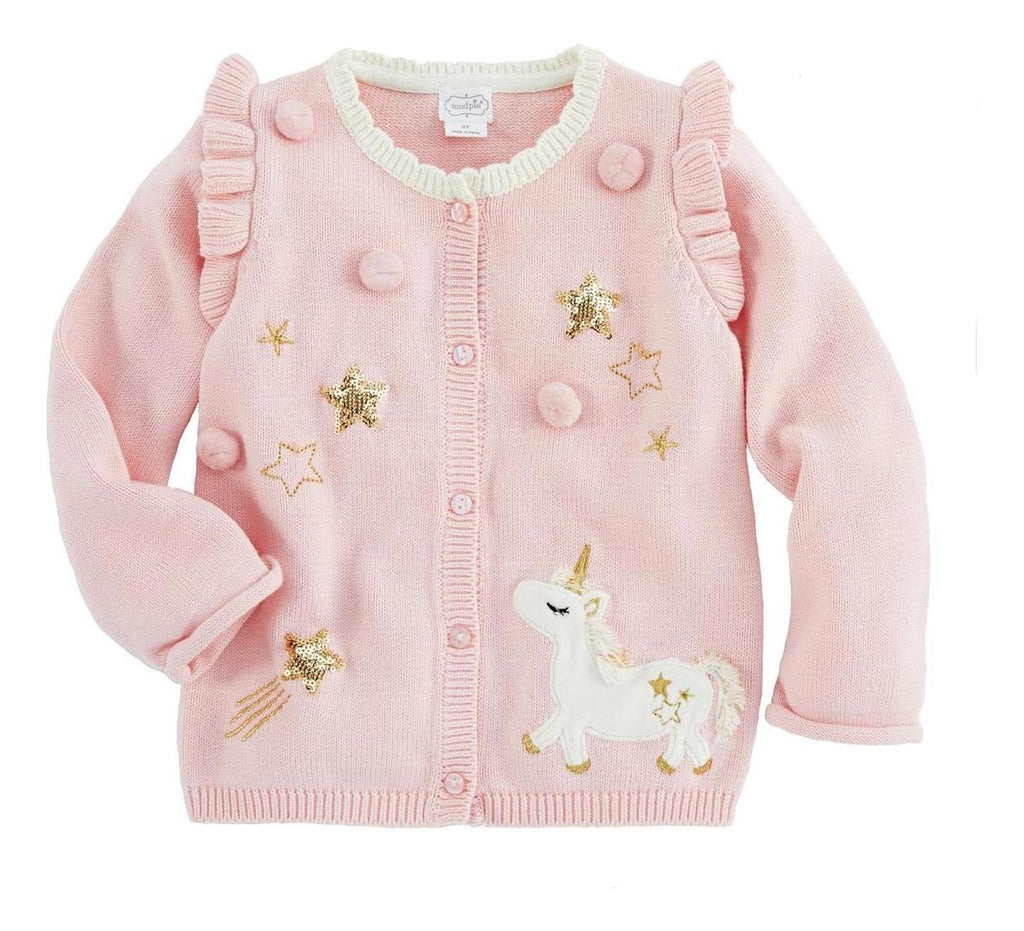 Cardigan Mud Pie Unicorn/estrellas Rosa
