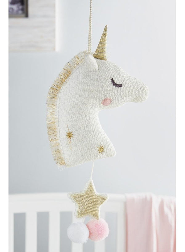 Peluche Mud Pie Musical Unicornio Blanco